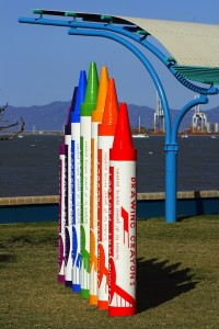 Giant crayons