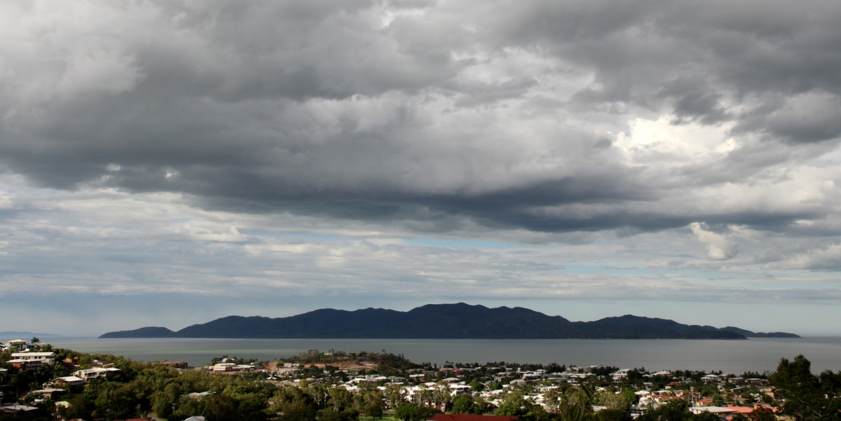 Magnetic Island with Townsville's North Ward in the foreground