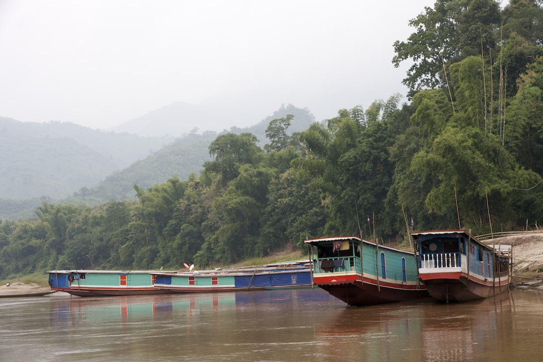 moored riverboats