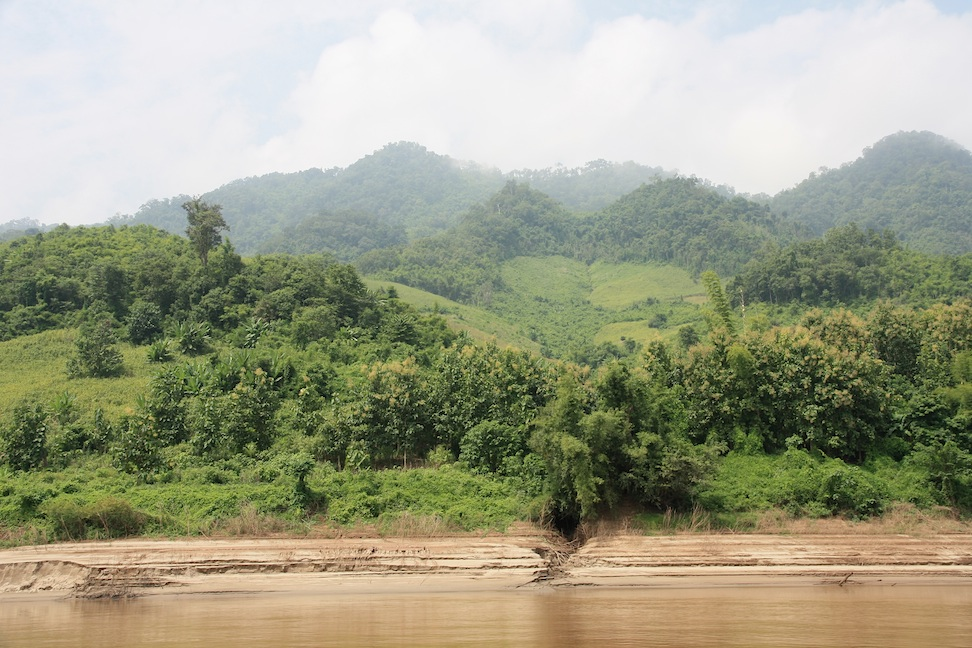 part-cleared hills by the river