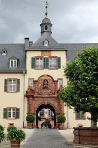 Baroque excess: the gateway to the courtyard of the Schloss