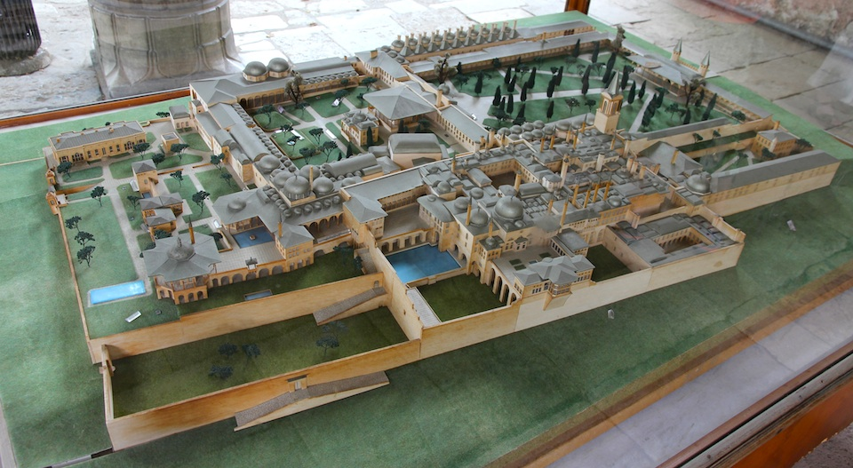 Architectural model of the palace