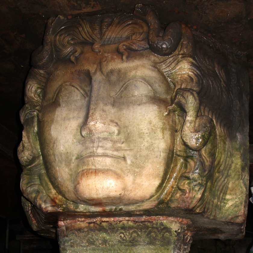 Head of Medusa, in its correct orientation