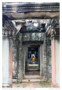 Shrine in the ruins of Angkor Wat, Cambodia