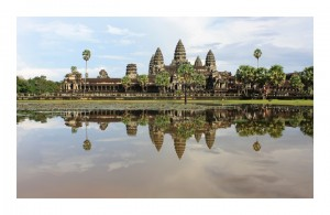 Angkor Wat - façade reflected in the moat