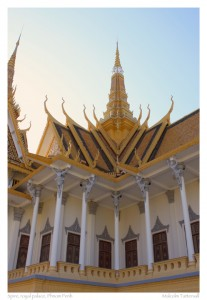 Spire of the royal palace, Phnom Penh, Cambodia