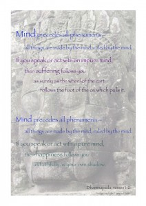 Mind precedes all things