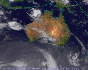 The remnants of Nathan off the Kimberley coast, March 28