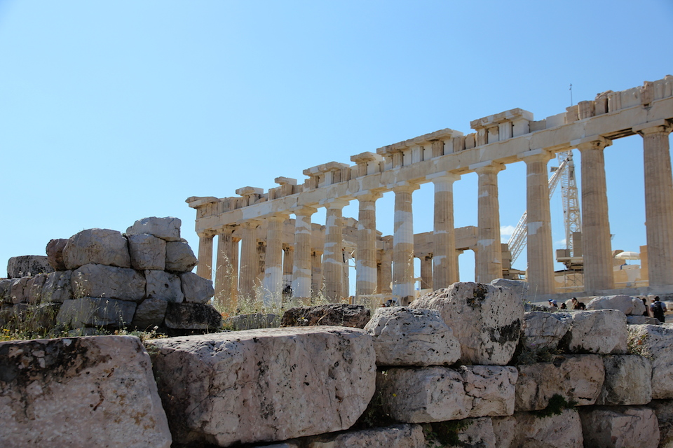 The Parthenon, showing restorations