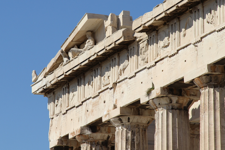 Acropolis temple detail