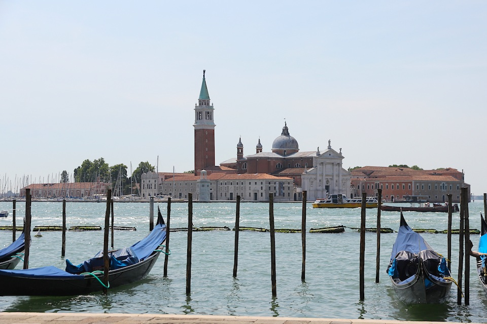 San Giorgio from Venice, (note gondolas - must be Venice)
