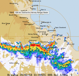Herveys Range rain radar
