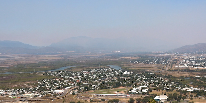 View over Ross River to Stuart and Mt Elliott