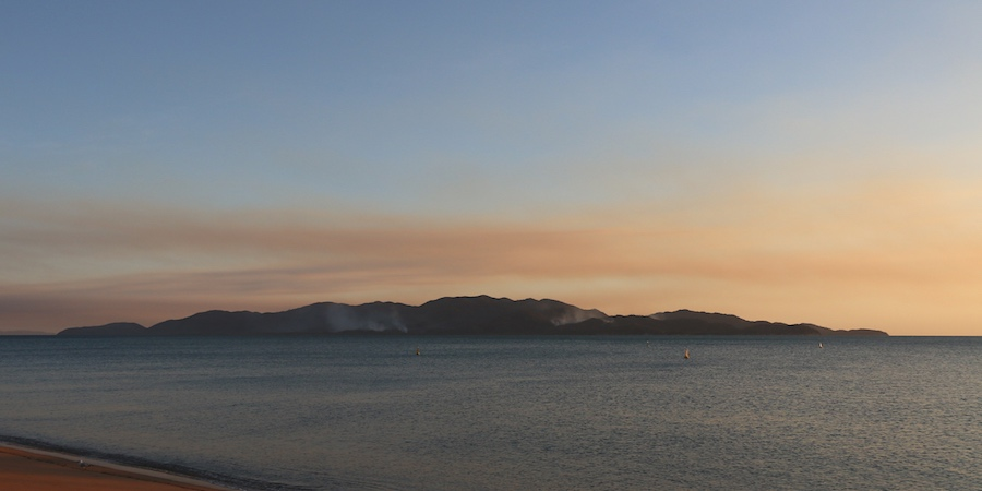 Smoke over Magnetic Island