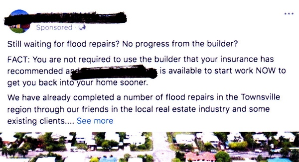 facebook advert for building services