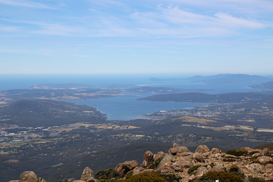 Bruny Island from kunanyi