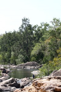View of rocky swimming hole, Alligator Creek