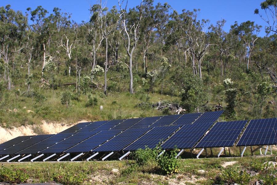Solar panel array at Hidden Valley
