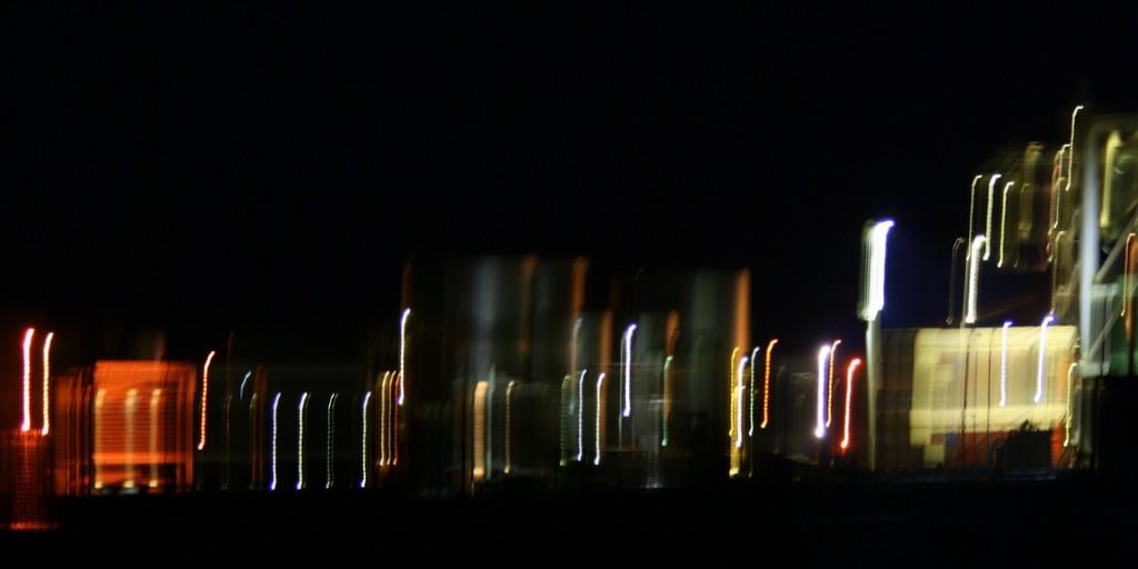 bars of colour on dark background