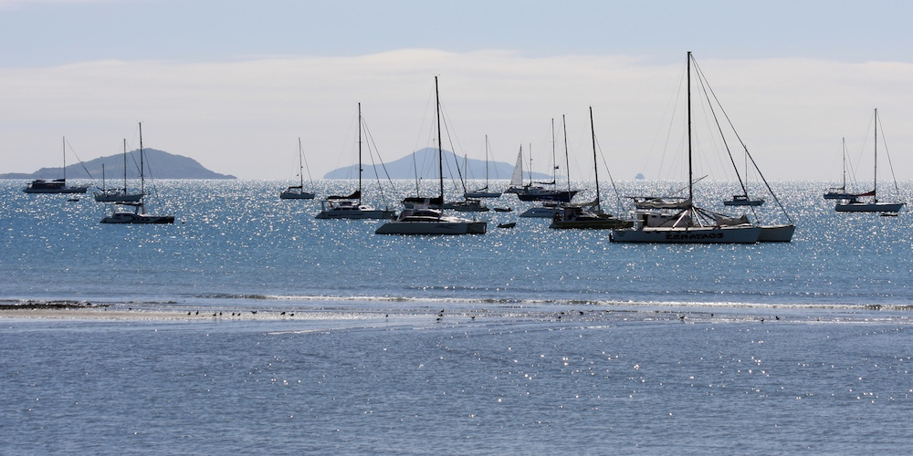 boats off Airlie Beach