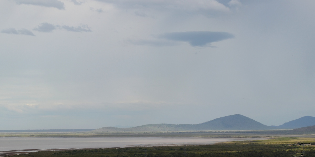 Looking over Ross River estuary to mangroves and Cape Cleveland
