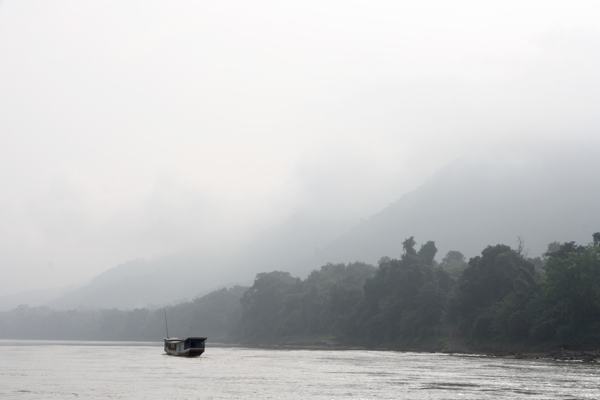 Mists, river, mountains