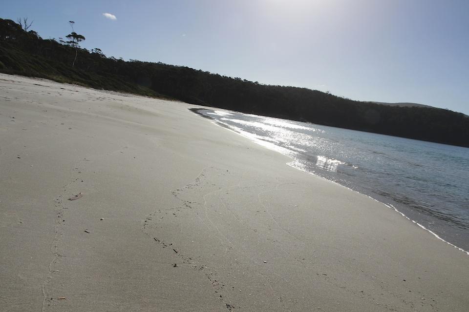 sand and calm sea