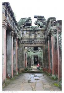 Colonnade, Angkor ruins, Cambodia