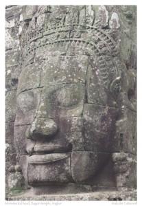 Monumental head, Bayon temple, Angkor, Cambodia