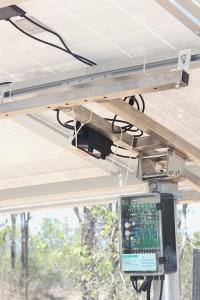control box under solar panels