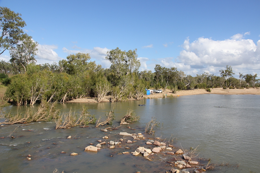 river with gravelly banks