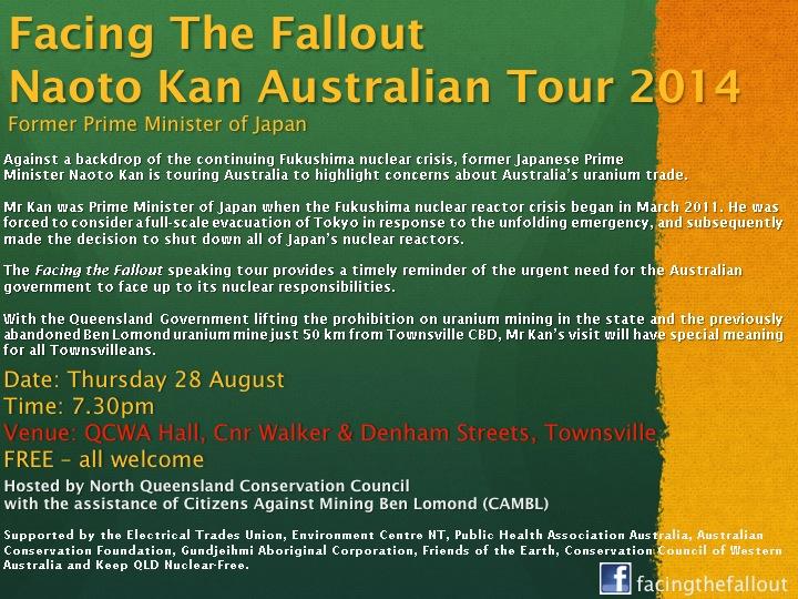 flyer for Kan's Australian tour