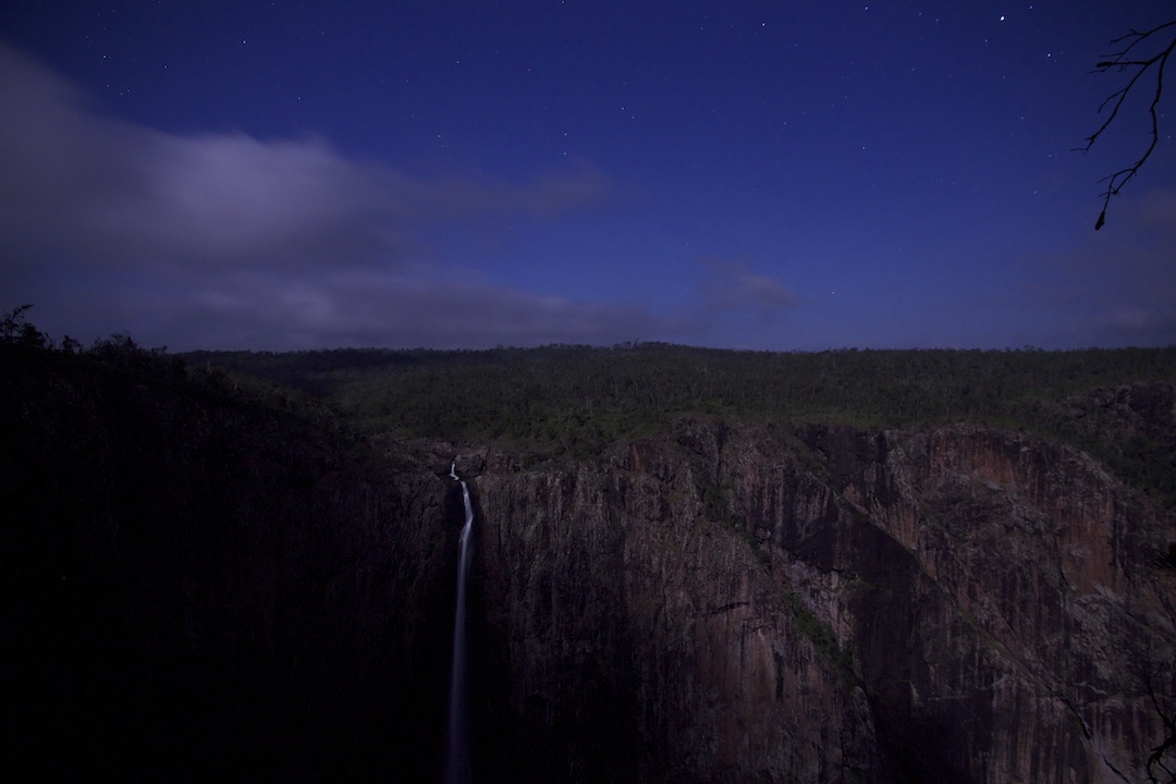 Wallaman Falls by moonlight