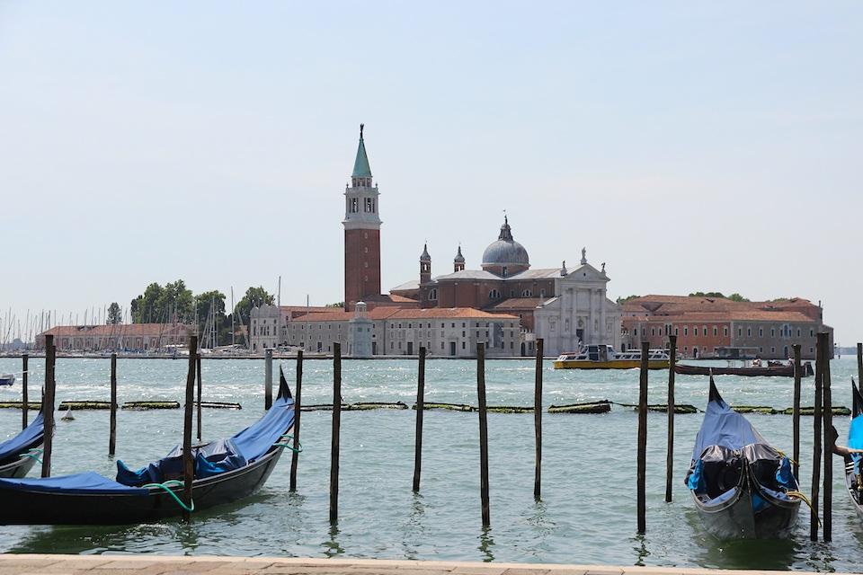 San Giorgio from Venice, (note gondolas - must be Venice)