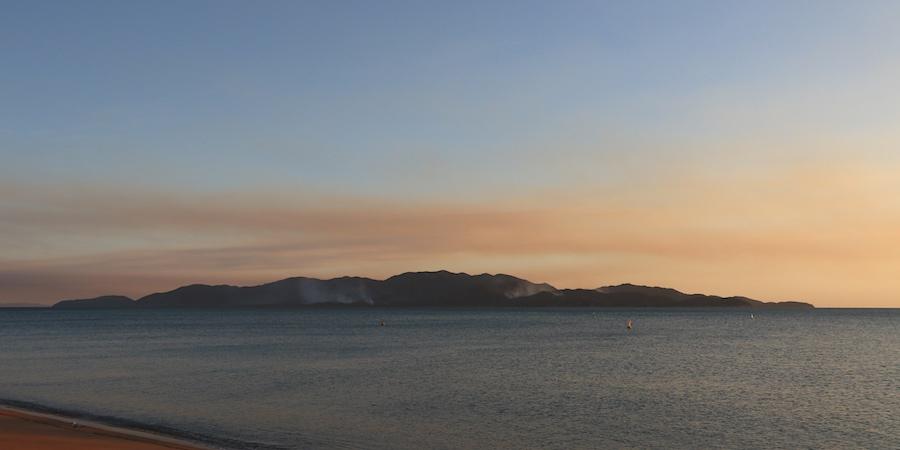Smoke over Magnetic Island