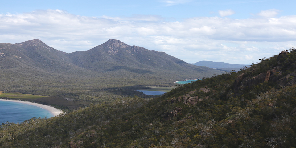 view from wineglass bay lookout, Freycinit NP
