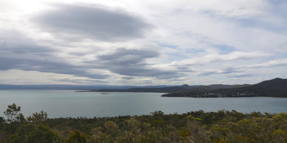 view over swansea