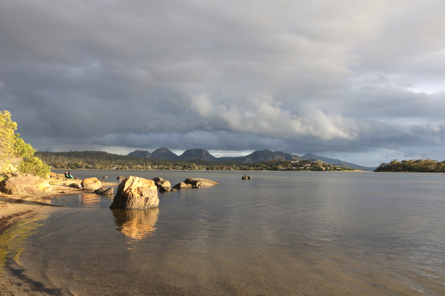 View of Freycinet from Moulting Lagoon
