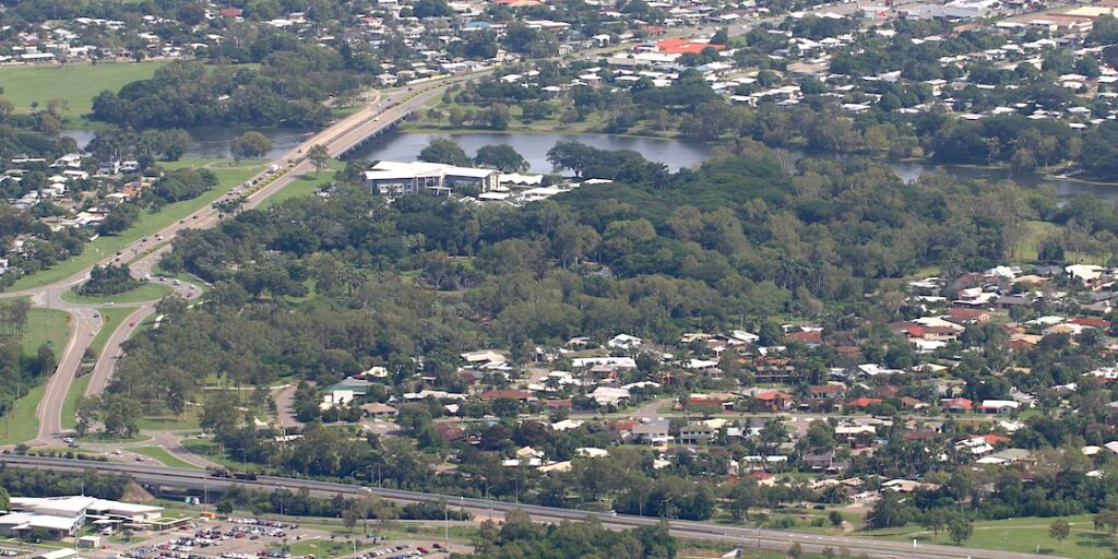 Toansville Palmetum from above