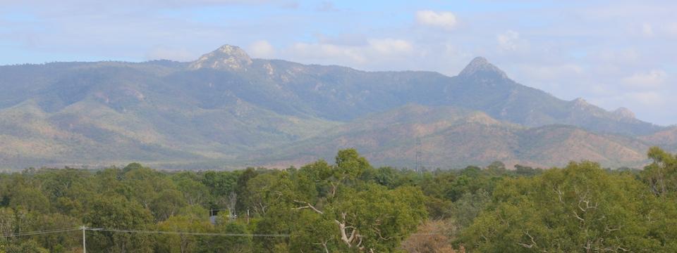 Hervey Range from Ross Dam