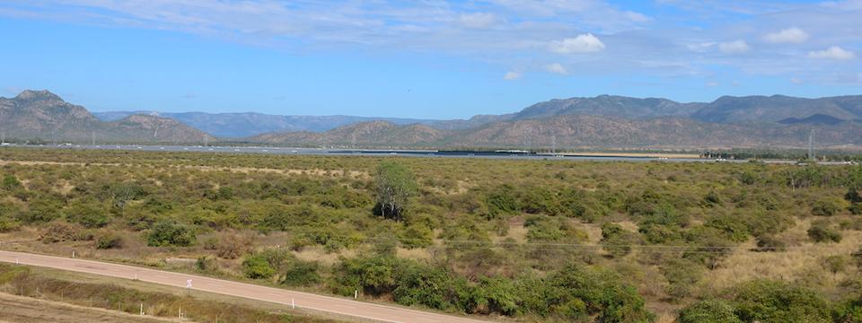 Solar farm from Ross Dam